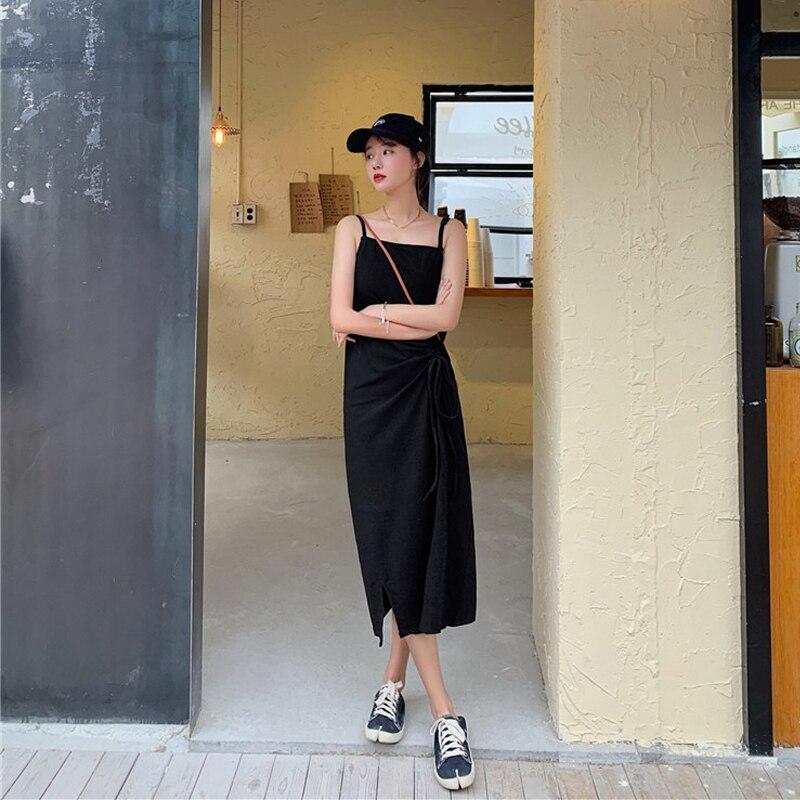 Women Maxi Dress Sexy Sleeveless Sling Dresses Casual Women Dress Long Women Dresses Summer 2020