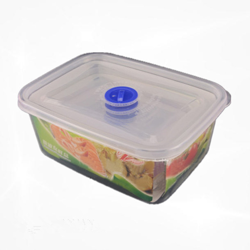200ml/500ml/1000ml/1800ml Small Medium Large Size Plastic Clear Storage Food Lunch Box Container With Lid for Fridge Microwave image