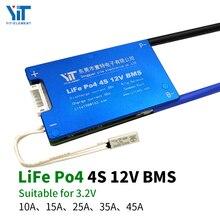 4S 12V 3.2V bordo di protezione della batteria al litio compensazione della temperatura di protezione da sovracorrente BMS PCB 15A 20A 30A 40A 50A 60A