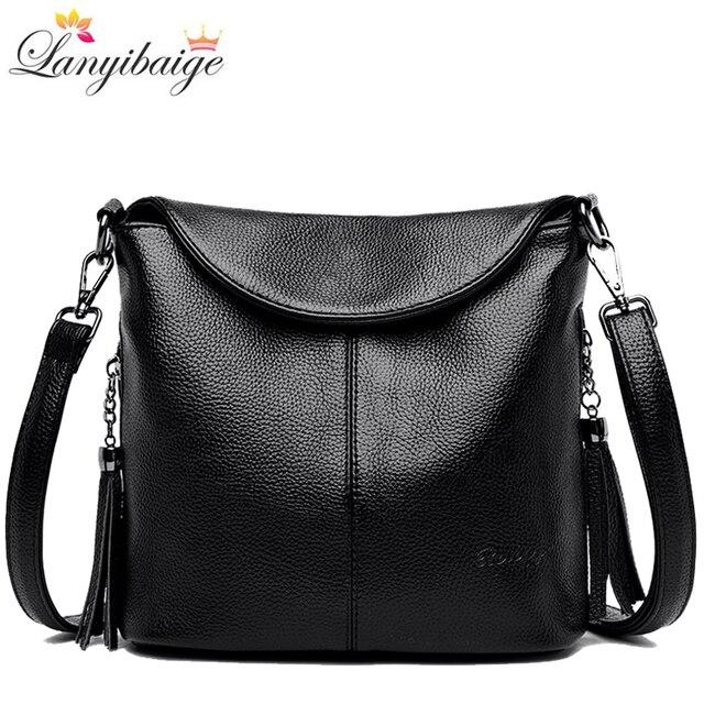Soft Leather Crossbody Bags for Women 2020 Luxury Handbags Women Bags Designer Female Casual Hand Shoulder Bag bolsos de mujer 1