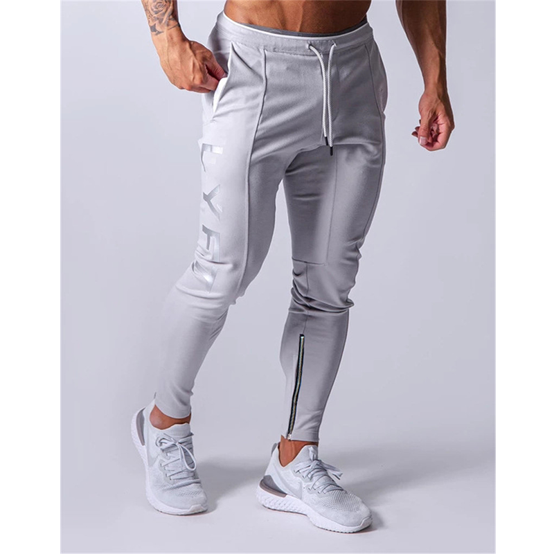 Sports-Pants Men's Jogger Muscle Fitness New-Fashion Printed