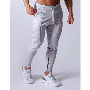 Sports pants men's jogger fitness sports trousers new fashion printed muscle men's fitness training pants 1