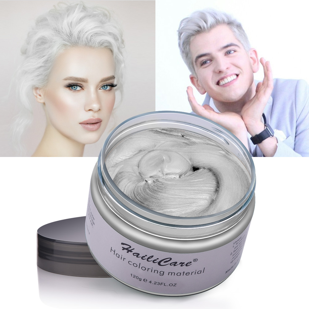 Hair Color Wax Styling Pomade One-time Molding Grandma Grey Fashion Festival Celebrate Coloring Mud Cream 7 Colors Available 4