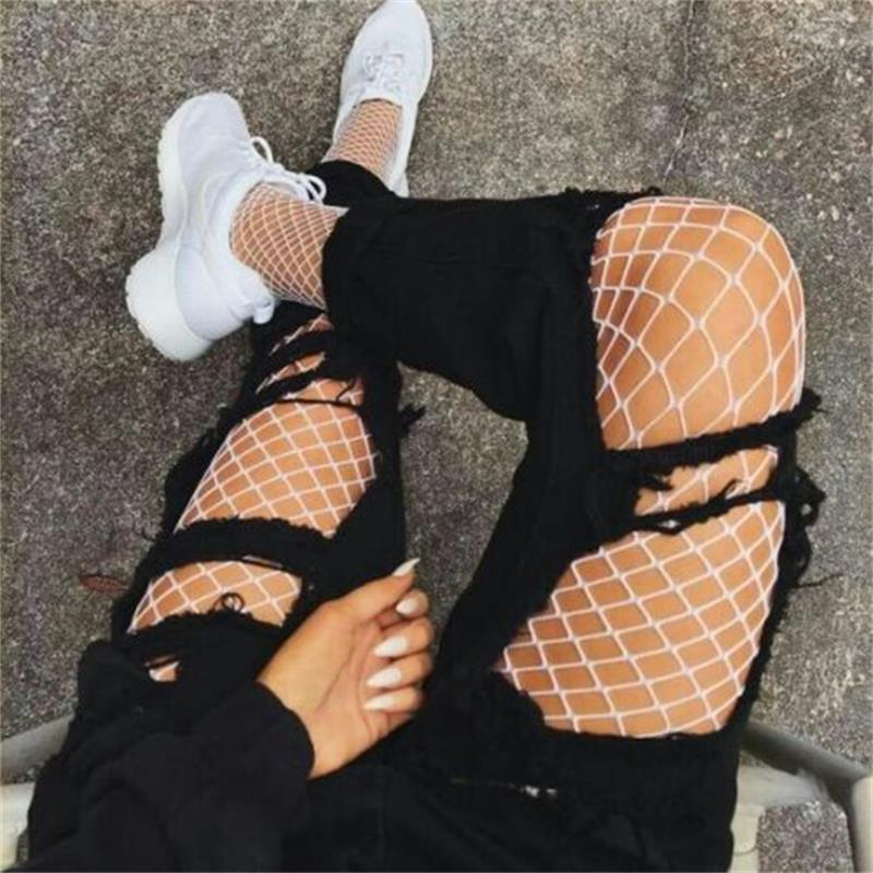 1PC Fashion Fishnet Tights Women's Sexy Fishnet Pattern Lace Breathable Elastic High Stockings Sexy Tights Pantyhose