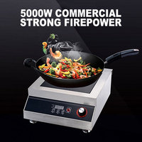 5000W High Power Induction Cooker Household Cooker Stir Commercial Electromagnetic Stove For Hotel Restaurant Kitchen SMK WP02