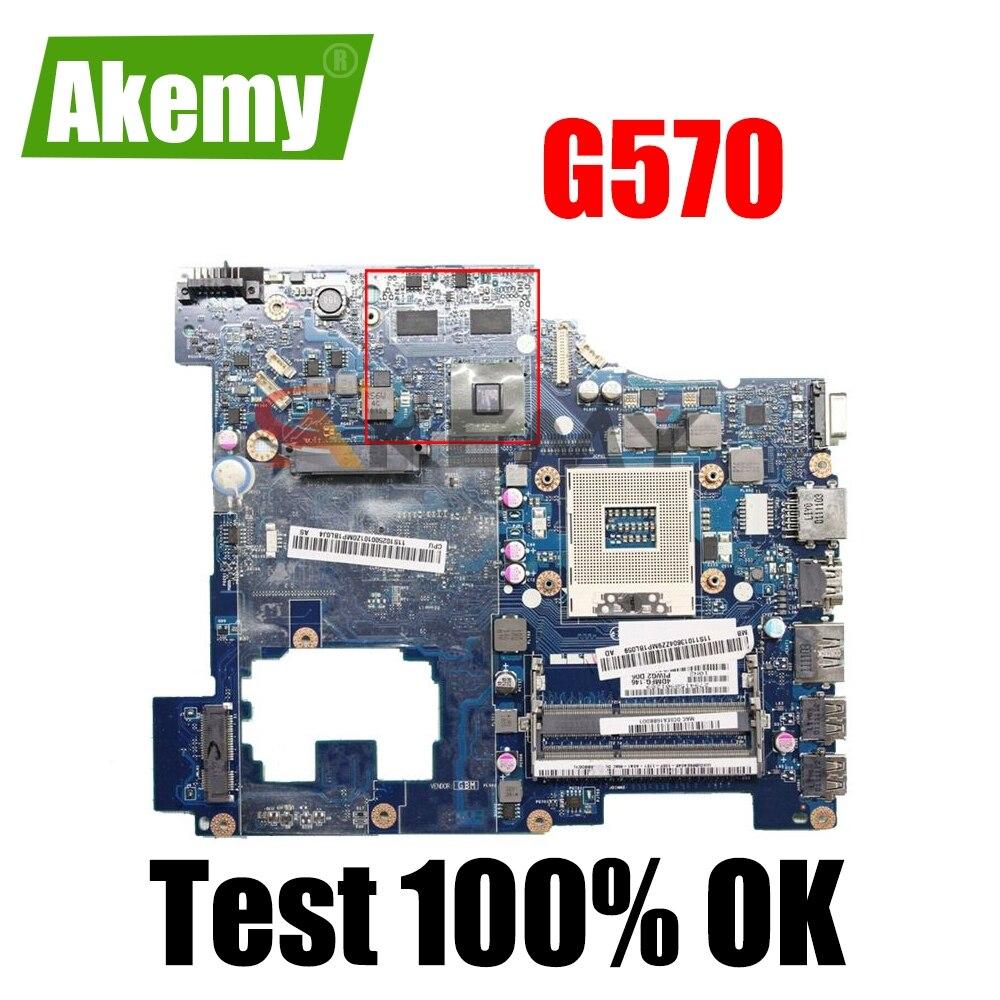 PIGW2 LA-6753P материнская плата для ноутбука LENOVO Ideapad G570 материнская плата HM65 216-0774207 DDR3