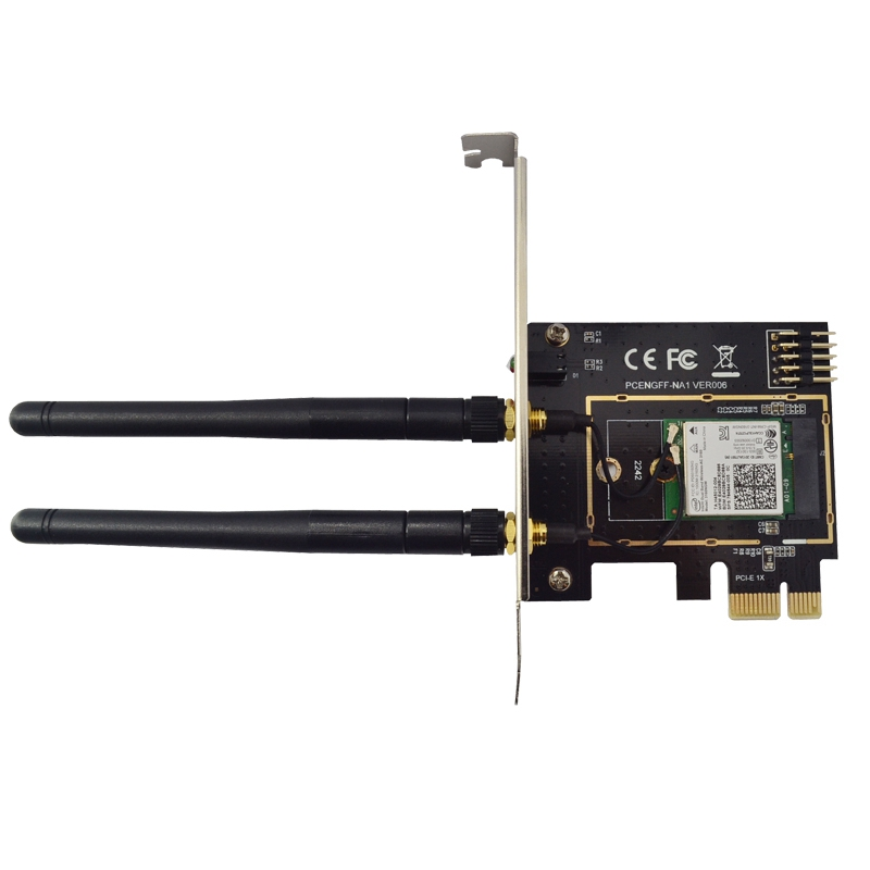 M.2 Wifi Adapter M2 Ngff Key A-E To Mini Pci Express Wifi Raiser PCI-E 1X NGFF Wireless Support 2230 2242 Mini Pcie Network Card