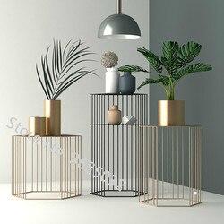 Новые модные железные журнальные столы креативный в гостиной простой современный диван маленькие столы стол