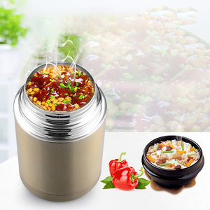 Image 1 - ONEUP Large Capacity 800ML/1000ML Double Stainless Thermos Lunch Box 2019 Vacuum Flasks Portable Lunch Bento Box Food Container