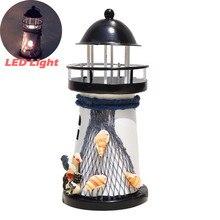 Linterna candelabro Vintage estilo mediterráneo torre de hierro candelabro faro vacaciones candelabro hogar boda decoración