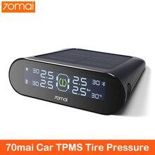 70mai スマート車 tpms タイヤ空気圧監視システムソーラーパワーデュアル Usb 充電セキュリティ警報システム tpms センサー