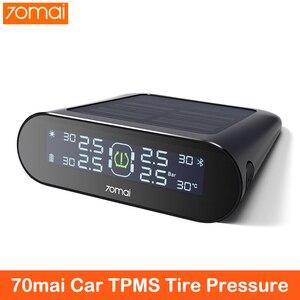 Image 1 - Sistema de supervisión de presión de neumáticos 70mai Smart Car TPMS, sistema de alarma de seguridad para coche con carga USB Dual, sensor tpms