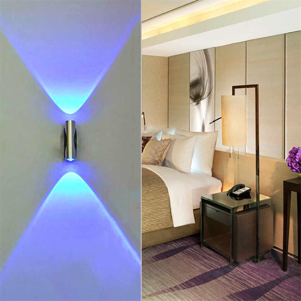 Luminária led de parede com duas cabeças, azul, de alumínio, para decoração de bar, varal led, para parede luz # f5
