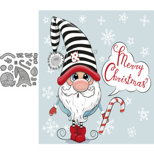 Волшебная карточка эльфа, металлические штампы для скрапбукинга, бумага, рождественские детали, трафареты для скрапбукинга diy, новая модель...