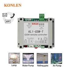KONLEN חכם GSM ממסר בקר טמפרטורת חיישן SMS שיחת שלט רחוק בית אוטומציה כוח מתג שער פותחן מים משאבת