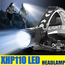 1000000LM XHP110 świeci jasno reflektor XHP90 wysokiej głowica zasilająca lampa wodoodporna latarka akumulator 7800mah latarka z zoomem przez 18650 tanie tanio YUAITANE CN (pochodzenie) ROHS Żarówki led Wysoka średnim niskie BL558 Reflektory 180 ° Camping Fishing Hiking Climbing