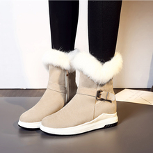 2020 Women's Shoes Winter Warm Snow Boots Women Faux Suede Ankle Boots Female Internal Increase Botas Mujer Woman Plus Size