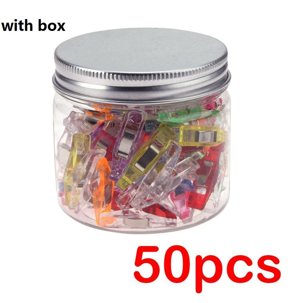 50PcsSewing Clips Plastic Clips Quilting Crafting Crocheting Knitting Safety Clips Assorted Colors Binding Plastic Clips Paper