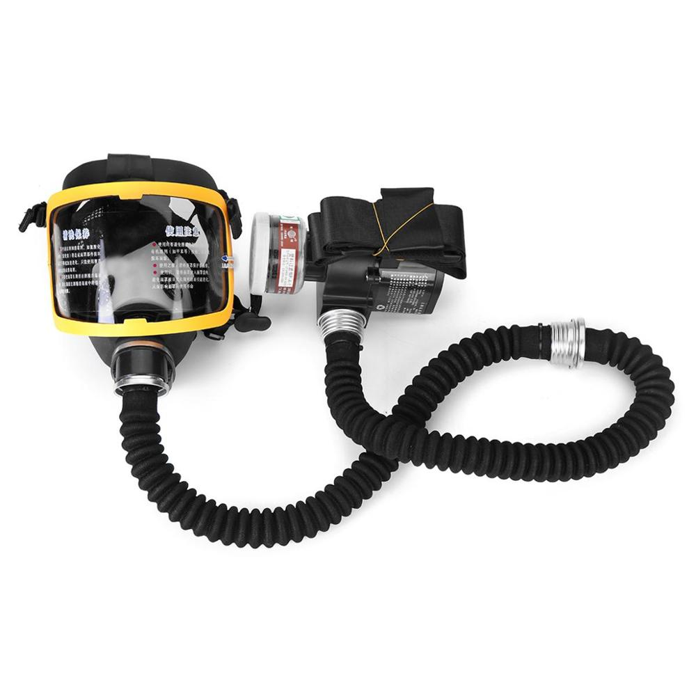 Protective Electric Constant Flow Supplied Air Fed Full Face Gas Mask Respirator System Respirator Mask Workplace Safety Supplie