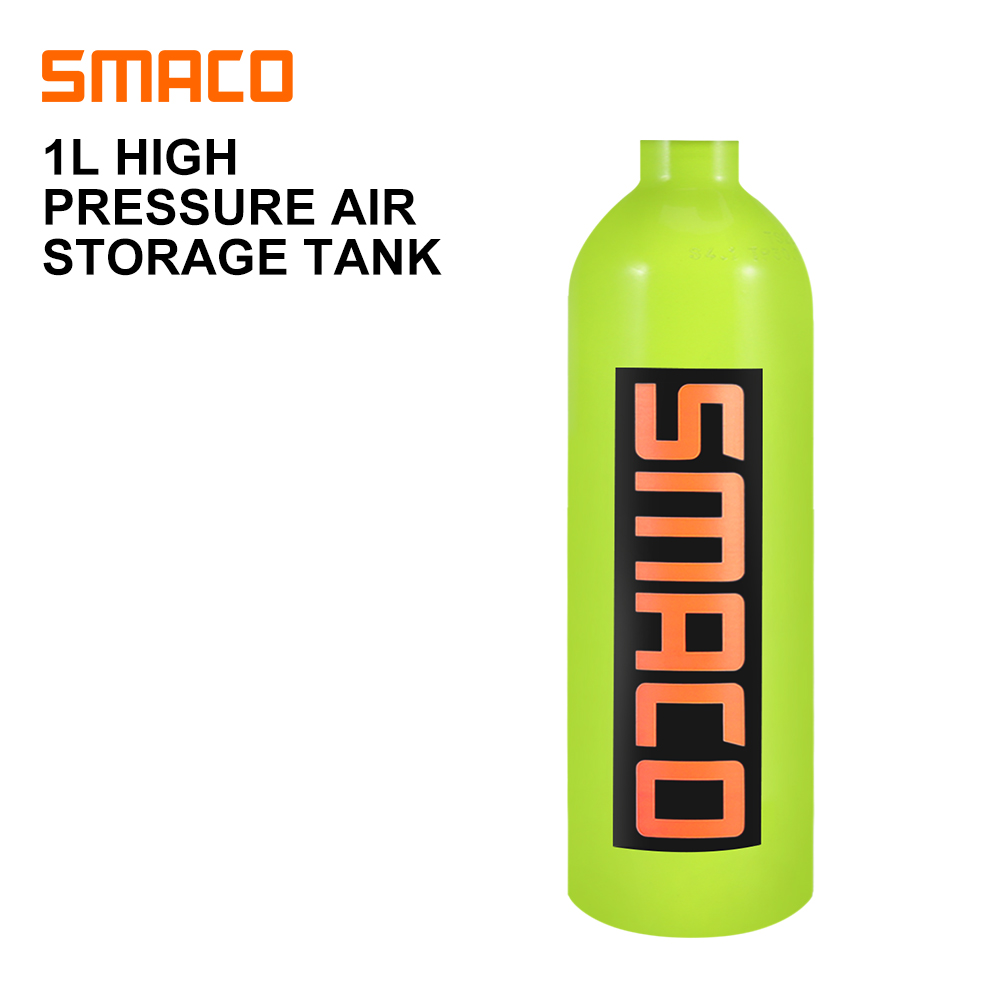 SMACO 1L Diving Equipment Scuba Air Tanks Underwater Respirator Diving Oxygen Bottle Swimming Equipment 3000PSI