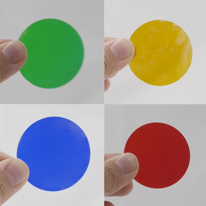 4pcs//lot Colorful Coasted Lens Glass Filter For C8 LED Flashlight RGBY