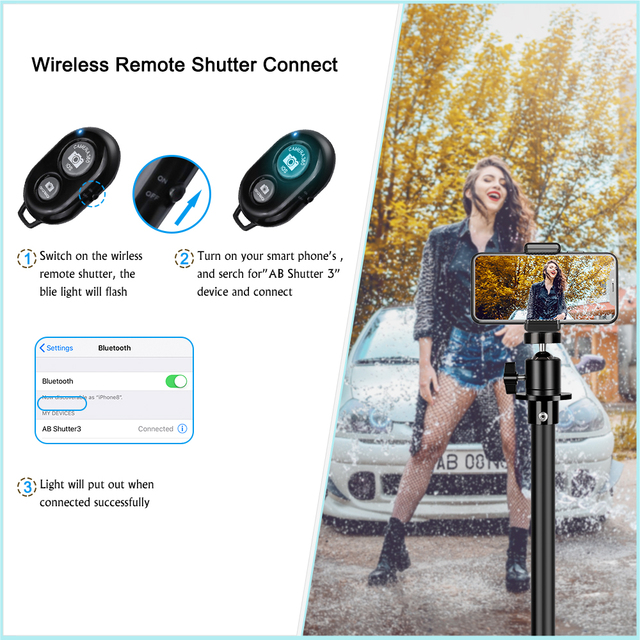 Tripod For Phone Tripod Stand Ring Light  1/4 Screw Head Flexible Selfie With Bluetooth Remote Control  Holder For Phone 6