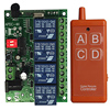 Control remoto inalámbrico Universal, interruptor inteligente DC12V 24V 4CH, relé, receptor de Radio, mando a distancia con interfaz usb