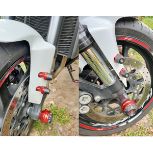 Image 2 - BJMOTO אופנוע מסגרת גולשים בורג התרסקות Pad כיסוי נופל מגן משמר עבור ימאהה הונדה קוואסאקי סוזוקי אופנועים
