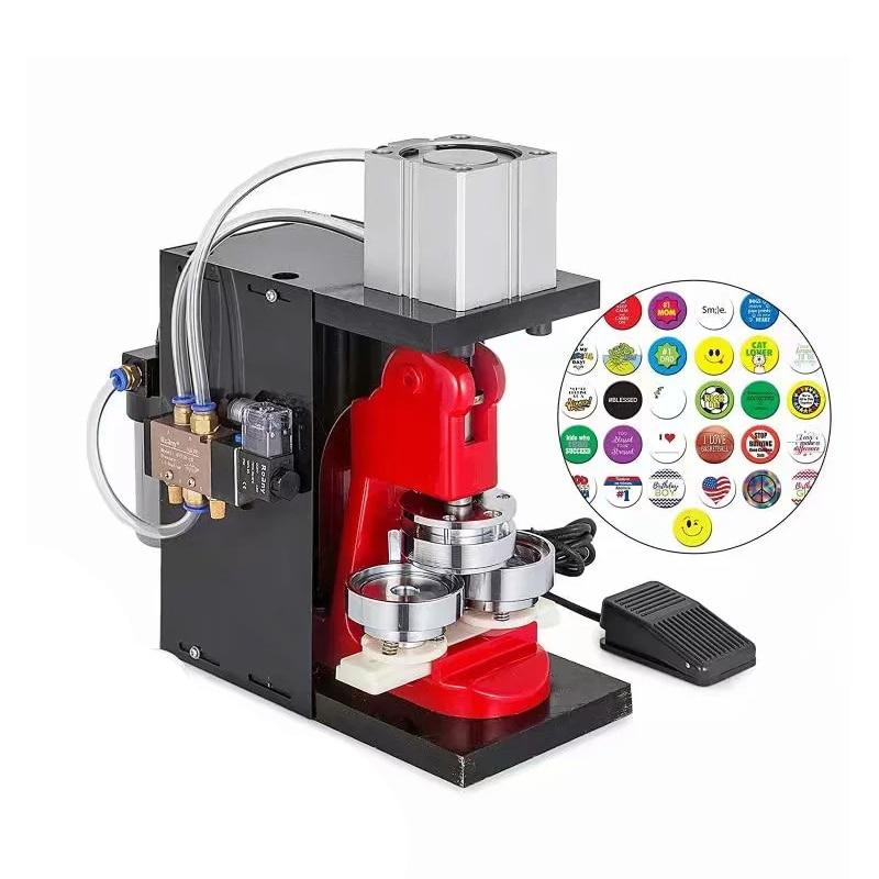 Pneumatic Badge Machine WYQD001 Desktop Pneumatic Badge Refrigerator Paste Pressing Mold Making Machine Without Pump 1PC