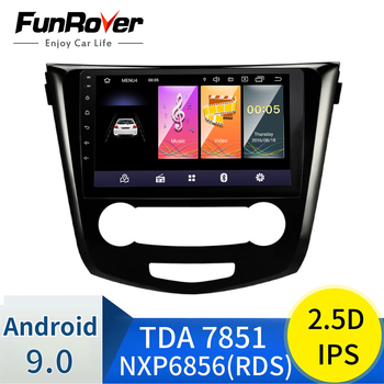 Funrover 2.5D+IPS 2 din Car Radio multimedia player Android 9.0 for Nissan Qashqai 2014 -2017 dvd gps navigation stereo navi image