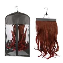 New Non - Woven Dust-proof Wig Storage Bag Dust Cover With High Quality Hangers Environmentally Friendly PVC Wigs