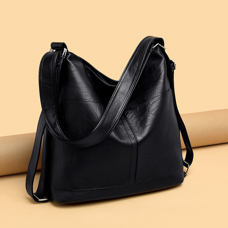 Large Capacity Women Hobos Bag 2019 Multifunction Vintage Female Messenger Bag Designer Shoulder Bag Top-handle Bags Sac A Main title=