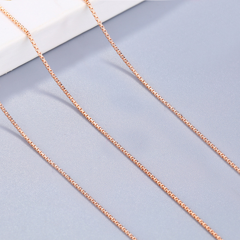 Us 608 29 Offpoem Wear Jewelry S925 Sterling Silver Necklace Cross Chain Box Chain O Shaped Chain Rose Gold 18k Gold Platinum Sterling Silver On