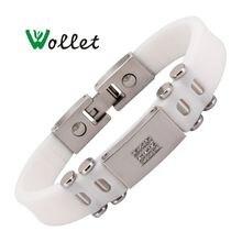 Wollet jewelry 99999% Германий cz камень силиконовый браслет