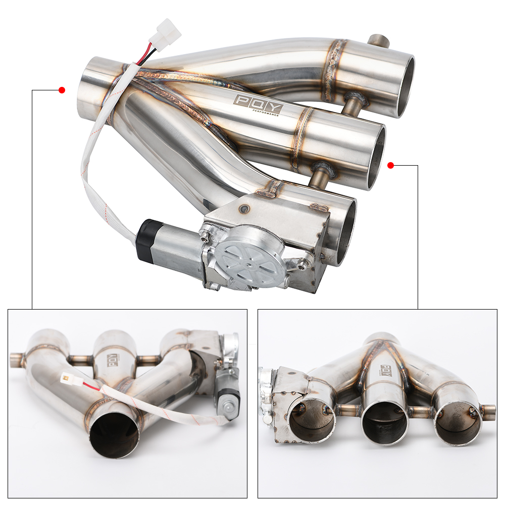 Yaootely 3 Inch Electric Exhaust Cutout with Remote Control with Be Cut Pipe Exhaust Cut Out Kit Car Complete Installations