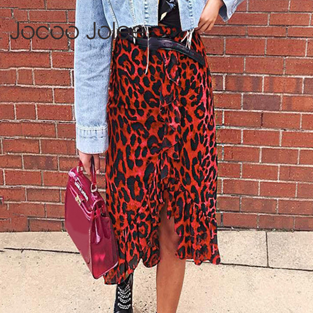 Jocoo Jolee Skirt Women Summer Leopard Print Vintage Long Women's Casual High Waist Pleated Skirt Fashion New 2019 New Fashion