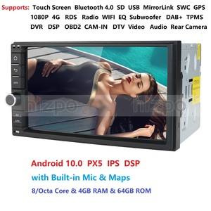 2 Din 7'' Octa core Universal Android 10 4GB RAM 64G ROM Car Radio Stereo GPS Navigation WiFi 1024*600 Touch Screen 2din Car PC
