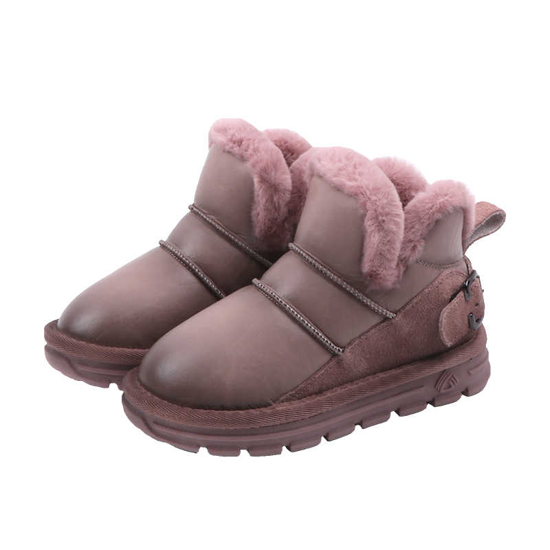 Hot Selling Snow Booties Children shoes boys Thicken Kids Girls Comfortable ankle Boots Non-slip Soft Thick Bottom  SX332