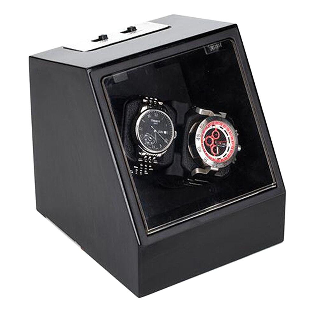 Luxe ébène automatique mécanique montre bobinage boîte moteur Shaker montre enrouleur support affichage bijoux stockage organisateur