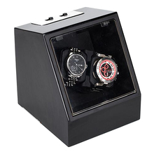 Luxury Ebony Automatic Mechanical Watch Winding Box Motor Shaker Watch Winder Holder Display Jewelry Storage Organizer luxury automatic watch winding box single holder silent motor storage box winder case for mechanical self wind clocks with plug