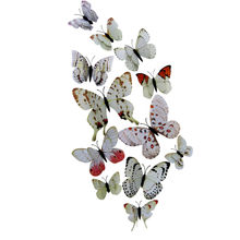 Wall Sticker 12x 3D Butterfly Fridge Magnet Room Decor Decal Applique sticker voiture animaux muraux salon tortue salon 19AUG21(China)