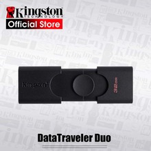 Kingston New USB Flash Drive USB 3.2 Gen 1 32GB 64GB DataTraveler Duo Pendrive Disk Stick USB Type-A & USB Type-C Pen Drive DTDE
