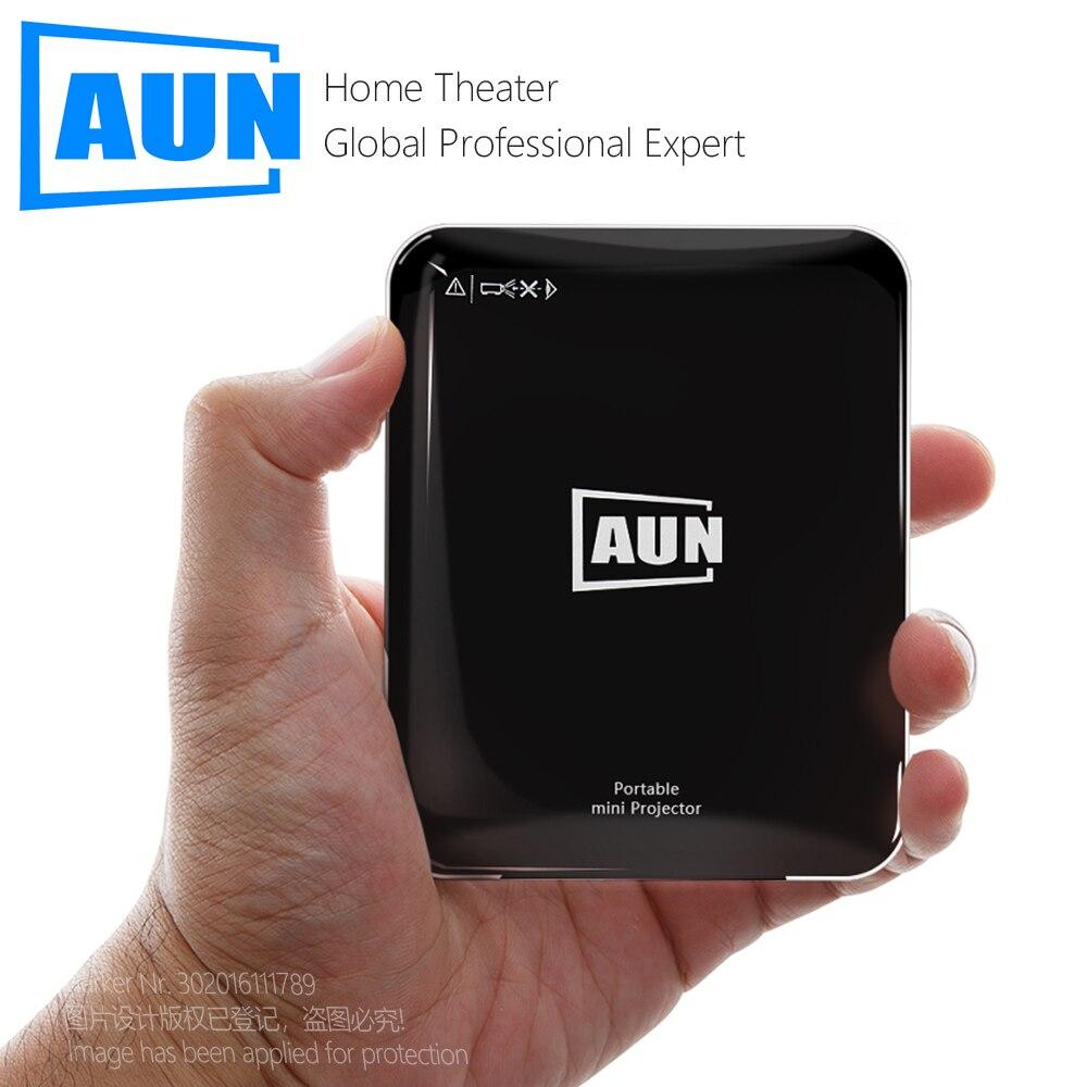 Проектор AUN MINI X3, Портативный кинотеатр для 1080P, 3D видеопроектор, светодиодный лазерный проектор. Зеркальное отображение экрана телефона ...
