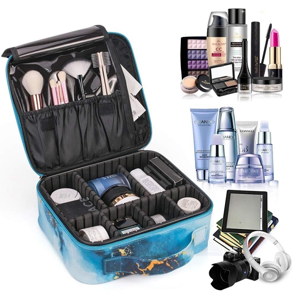 Large Capacity Portable Makeup case Adjustable Multifunction Cosmetic Travel storage box
