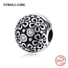 New DIY Valentines Day Girls Charms Original 100% Authentic 925 Sterling Silver Beads fit for Pandora bracelets