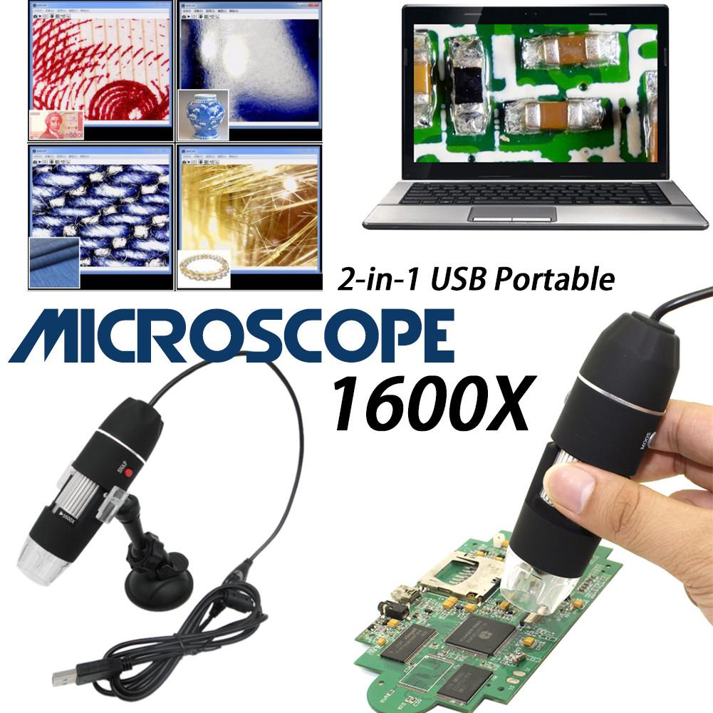 1600X /1000X/500X Mega Pixels 8 LED Digital USB Microscope Microscopio Magnifier Electronic Stereo USB Endoscope CameraWholesale