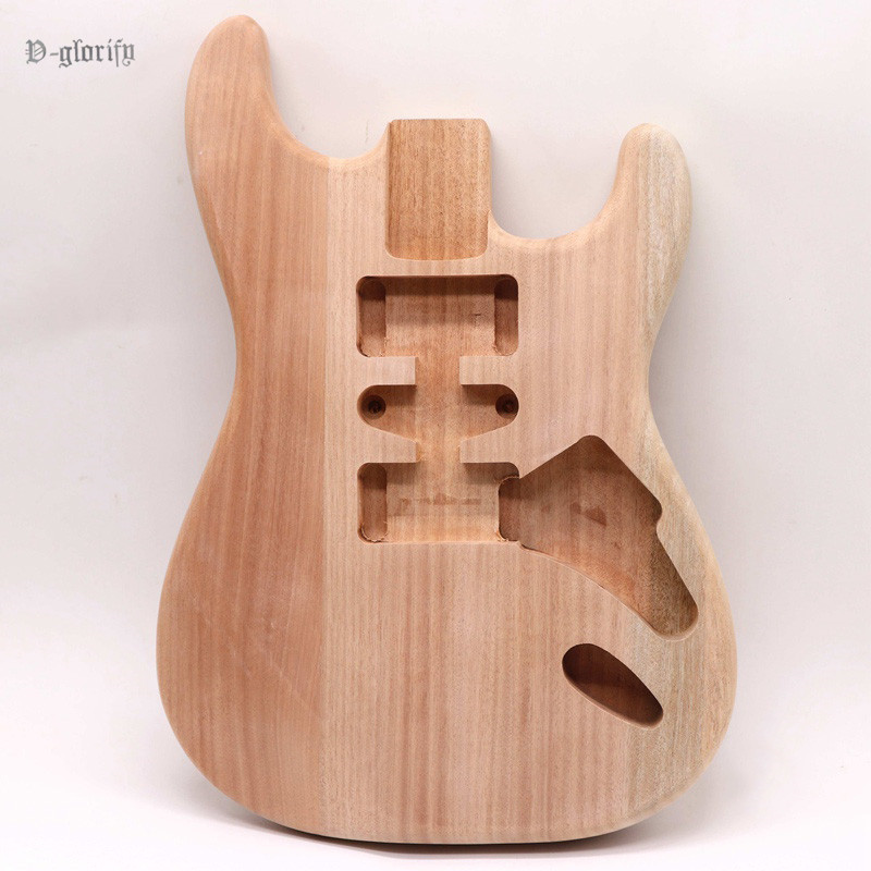 hard tail 2 pieces ST electric guitar body mahogany wood unfinished handcraft DIY guitar barrel body electric guitar body parts
