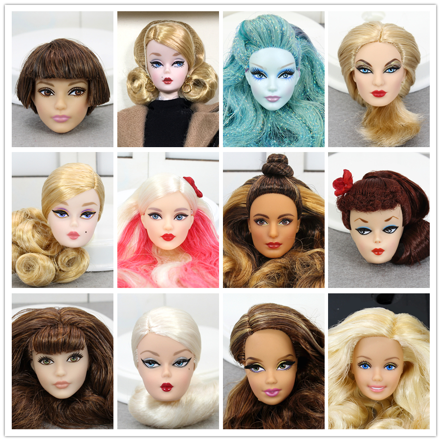 Original Barbie Limited Collection American Dolls One Pcs Doll Head Accessories Fashion Hair Golden Galactic Toys For Children