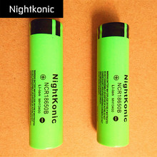 цена на 8 Pieces Nightkonic New Original NCR18650B 3. 7v 18650 Lithium Rechargeable Battery For Flashlight battery  Flat top