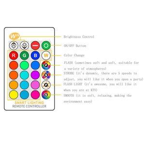 Image 3 - E27 3/5/10w 16 cores mudando magia lâmpada led rgb AC85 265V + branco controle remoto inteligente lâmpada de luz pode ser escurecido memória + ir controle remoto